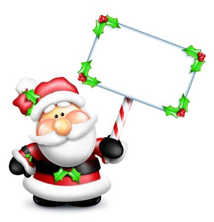Gumdrop Santa Holding a Sign