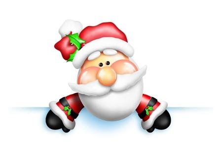 Gumdrop Santa Over Edge Stock Photo - 11221881