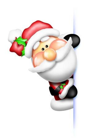 Gumdrop Kerstman gluren Rond Stockfoto
