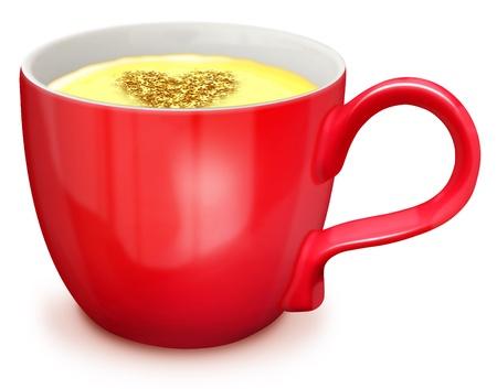 illustrated: Illustrated Cup of Hot Egg Nog
