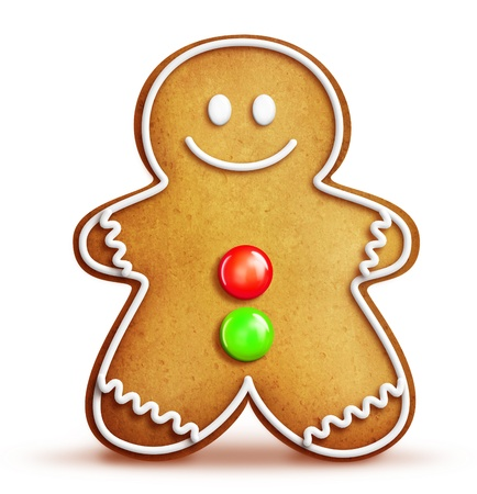 Whimsical Cartoon Gingerbread Man