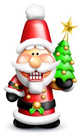 Whimsical Cartoon Santa Nutcracker Stock Photo - 14963863