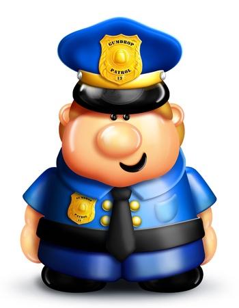 cute cartoon: Whimsical Cartoon Policeman