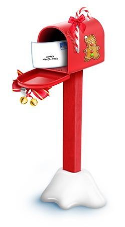 Whimsical Christmas Mailbox with post Stock Photo - 14963868