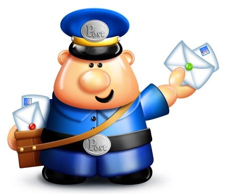 Whimsical Cartoon Mailman