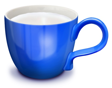illustrated: Illustrated Cup of Milk Stock Photo