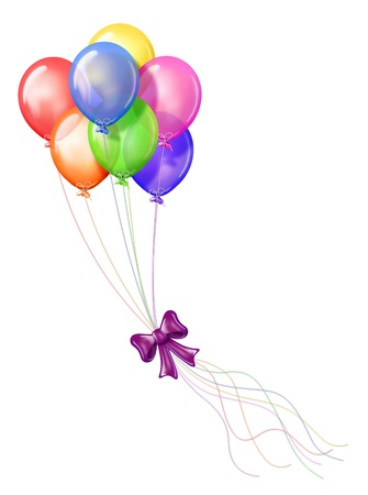 Birthday Balloon Bunch Stock Photo