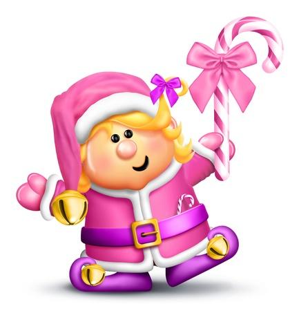 Whimsical Cartoon Girl Elf