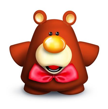 Whimsical Cartoon Teddy Bear