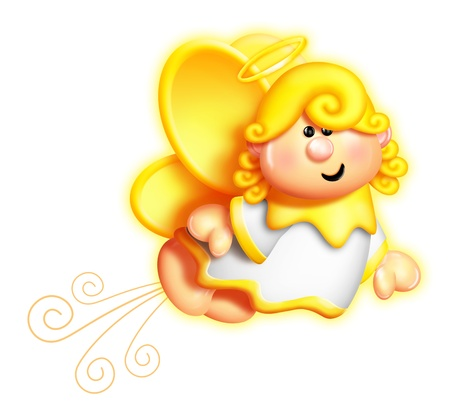 Capricieuze Cartoon Angel Flying