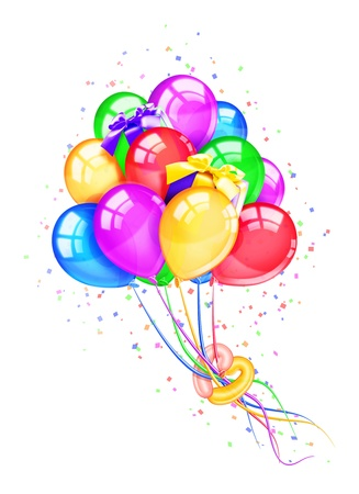 birthday balloon: Whimsical Birthday Party Balloons with Gifts