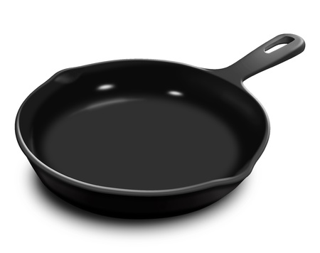 illustrated: Illustrated Frying Pan Stock Photo
