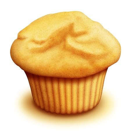illustrated: Illustrated Breakfast Muffin Stock Photo
