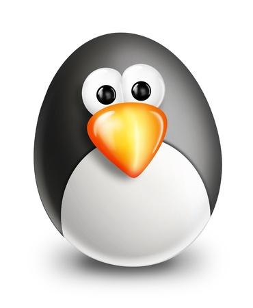 Whimsical Cartoon Christmas Egg Penguin