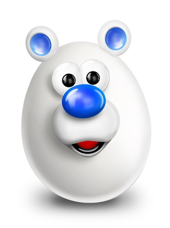 Whimsical Cartoon Christmas Egg Polar Bear photo