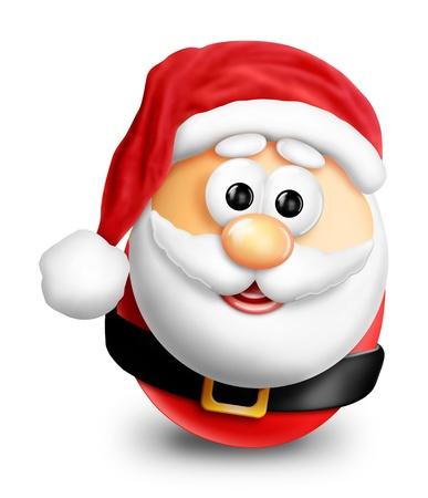 Whimsical Cartoon Christmas Egg Santa