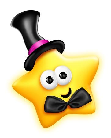 모자에 특이한 무늬 만화 귀여운 스타
