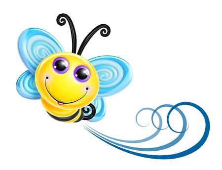 Scherzoso Bee Kawaii Cute Cartoon Archivio Fotografico - 15806170
