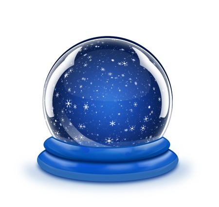 illustrated: Illustrated Whimsical Snow Globe Empty