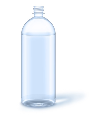 illustrated: Illustrated Water Bottle with No Label