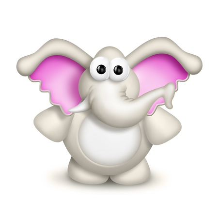 elephant cartoon: Scherzoso Elephant Cute Cartoon Archivio Fotografico