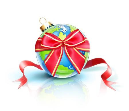 イラスト クリスマス惑星地球