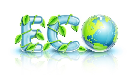 illustrated: Illustrated Planet Earth ECO Symbol Stock Photo