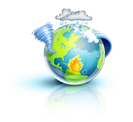 Illustrated Planet Earth Natural Disasters Stock Photo - 15806132