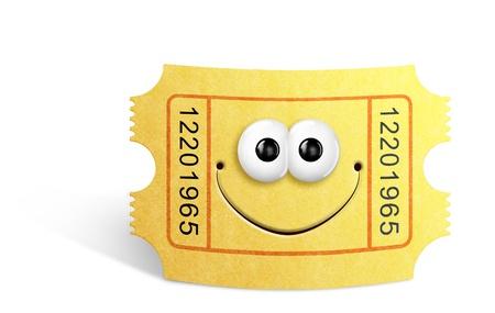 Whimsical Cute Cartoon Movie Ticket photo