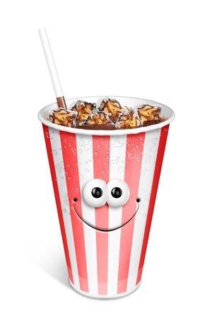 Whimsical Cute Cartoon Soda Cup