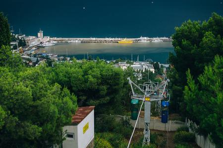 The black sea, Wharf, Yalta, funicular
