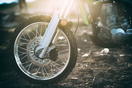 The front wheels of motocross and Enduro