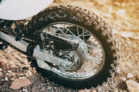 Enduro motorcycle wheel rear star chain spiked tire moto