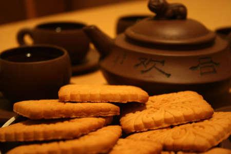 cooky: tea Stock Photo
