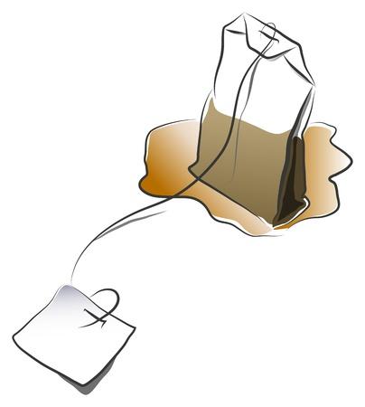 teabag: tea bag with label