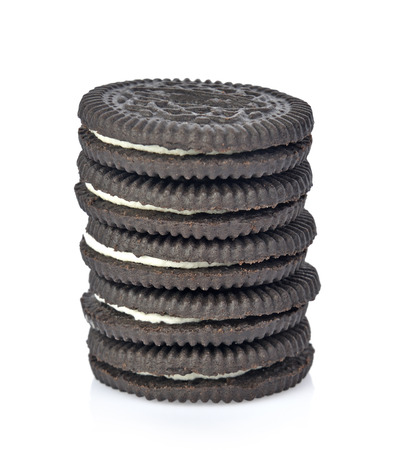 cookies cream on white background Stock Photo