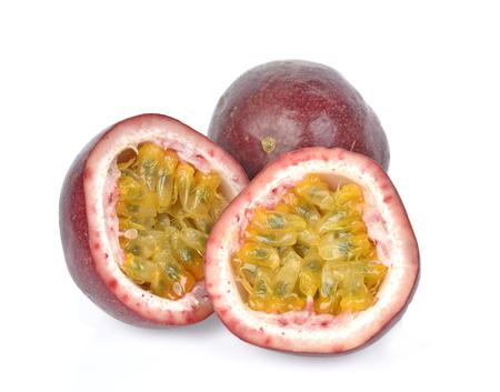 passionfruits isolated on white background