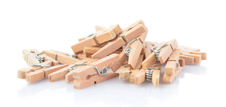 Clip wood isolated on whtie background