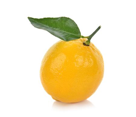 limón aislado sobre fondo blanco Foto de archivo