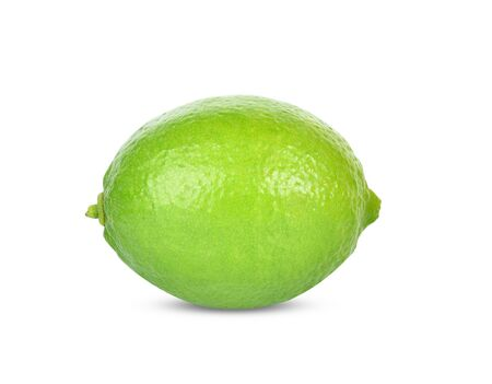 Close up Lime isolated on white background Reklamní fotografie