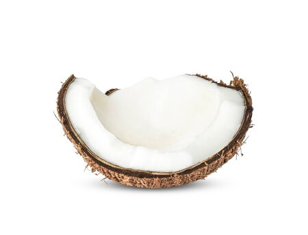 Half Coconut isolated on white background Reklamní fotografie