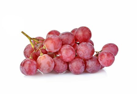 Red grapes isolated on white background Reklamní fotografie