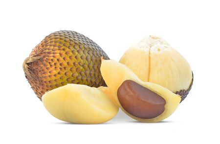 Snake fruit,Salacca,zakacca (Salak Indo) isolated on white background