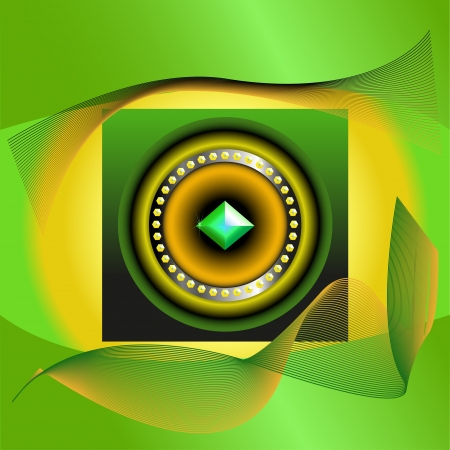 abstract picture of green jewel