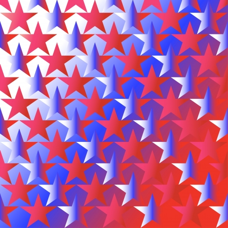background with stars under the color of national  flag of the USA Vector
