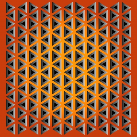 texture from triangles with opening on  orange background Vector