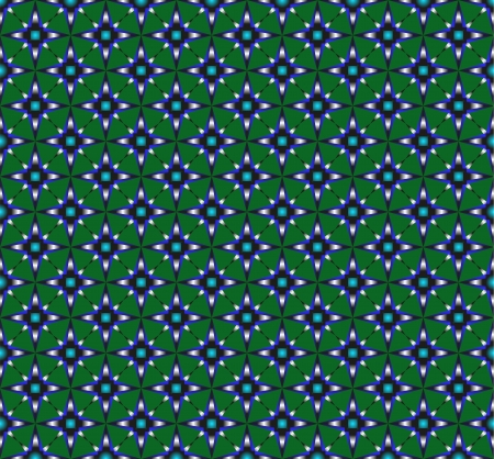 octagonal: pattern from octagonal stars on a green background