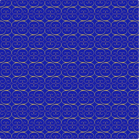pattern with vignettes and arrows on a blue background Vector