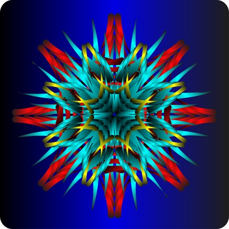 octagonal: abstract octagonal figure in the form of a flower Illustration