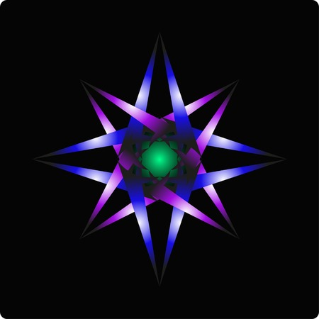 octagonal: abstract colorful octagonal on a black  green background